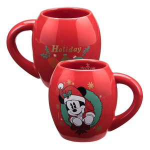 Mickey Mouse 18 oz Holiday Oval Cocoa Mug Duel View