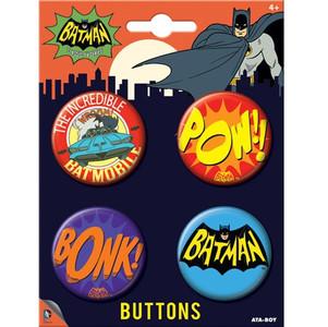 Retro 1960s-Style Batman Buttons