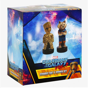 Guardians Of The Galaxy Vol. 2 Groot and Rocket Salt and Pepper Shaker Boxed View