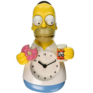 Homer Simpson 3D Motion Clock Unpackaged View