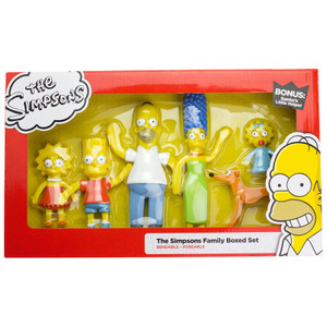 The Simpsons Family Boxed Set of Bendable Figures
