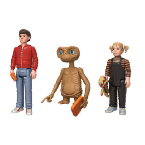 E.T. ReAction Figures Pack of 3 Unboxed View