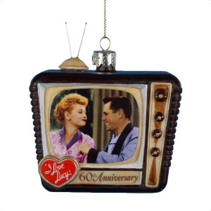 I Love Lucy 60th Anniversary Glass TV Ornament.