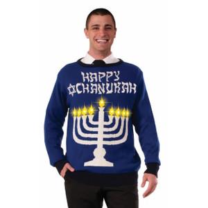 Light Up Menorah Sweater