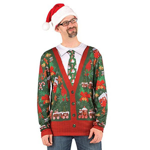 Faux Real - Ugly Christmas Sweater Cardigan