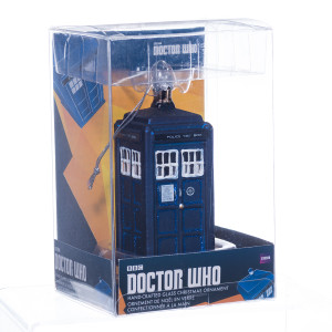 Doctor Who TARDIS Glass Christmas Ornament