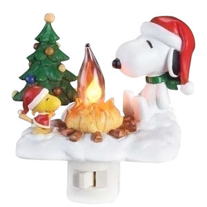 Snoopy and Woodstock Campfire Nightlight.