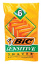 Bic Sensitive Shaver 6 pk -Catalog