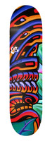One of only six custom limited edition 9th Wave Gallery artist signature series Skateboards.  Features the painting Lono's Reef by Shannon O'Connell.