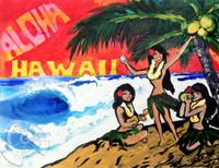 Aloha Hula Girls By Drew Toonz