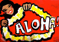 Red Aloha By Drew Toonz