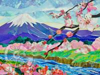 Mt. Fuji Sakura Collage - Sukura Series #1 by Patrick Parker
