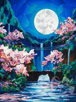 Moon Blossom Sakura Collage - Sukura Series #3 by Patrick Parker