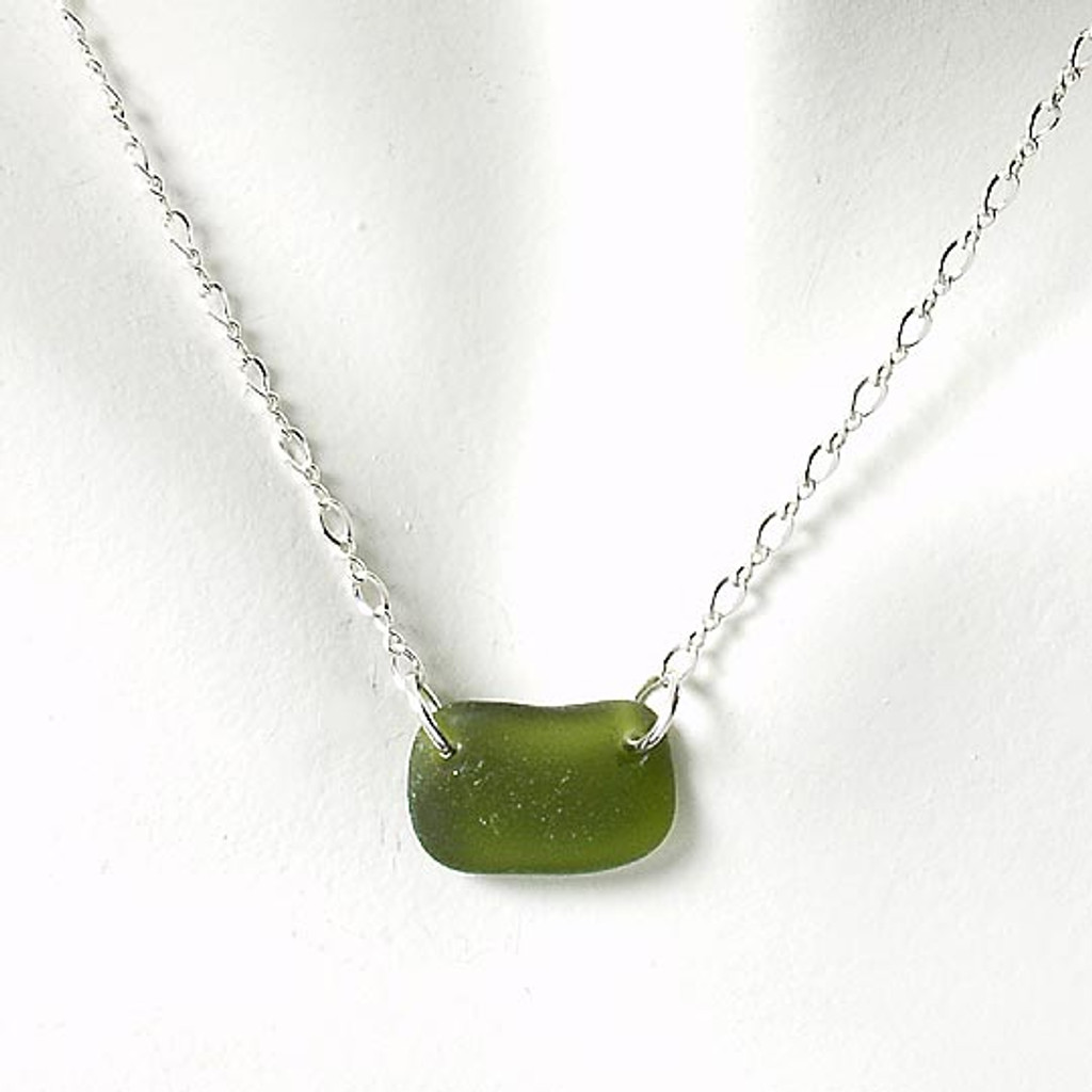 Khaki Glass Laurie Necklace
