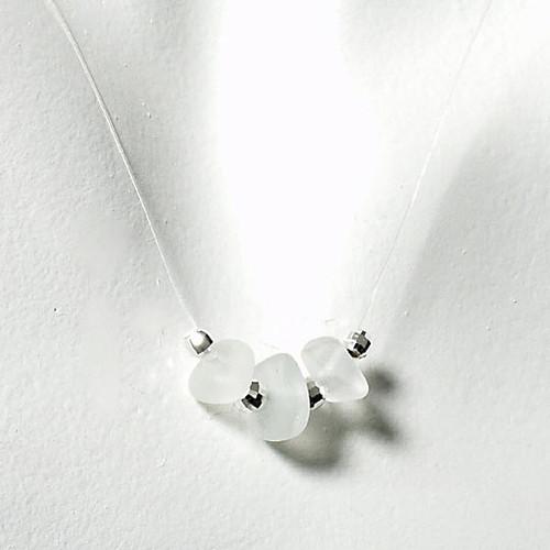 Clear Tri-Glass Illusion Necklace