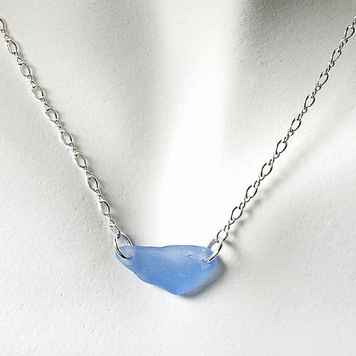 Periwinkle Glass Laurie Necklace