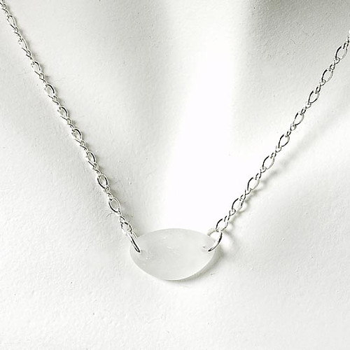 Clear Glass Laurie Necklace
