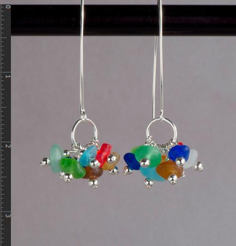 Cocktail Beach Glass Earrings