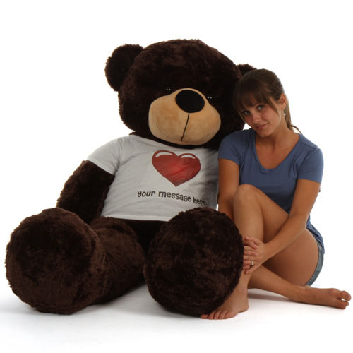 5ft-life-size-personalized-dark-brown-teddy-bear-brownie-cuddles-in-red-heart-shirt.jpg