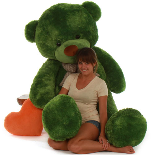72in-life-size-green-lucky-teddy-bear-cuddles-huggable-and-soft.jpg