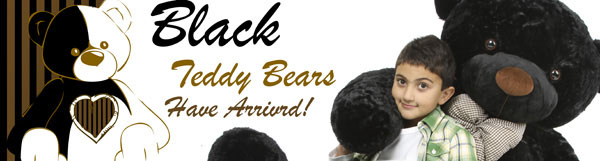 Black teddy bears have arrived