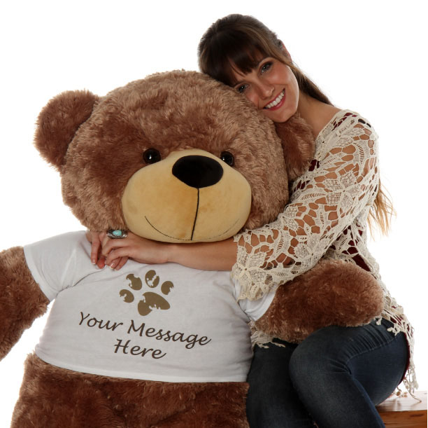 sunny-cuddles-is-a-personalized-teddy-bear-with-a-paw-stamp-t-shirt-that-you-can-customize.-this-cute-mocha-brown-teddy-bear.jpg