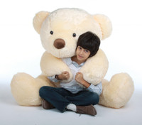 Smiley Chubs vanilla cream teddy bear 55in