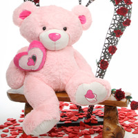 Cutie Pie Big Love pink teddy bear 42in