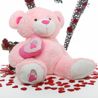 Cutie Pie Big Love pink teddy bear 47in
