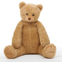 Honey Tubs amber brown teddy bear 32in