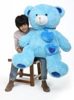 Shorty Hugs blue teddy bear 45in