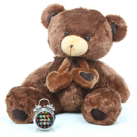 Lucky Hugs chestnut brown teddy bear 36in