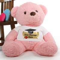 Gigi Chubs pink personalized graduation teddy bear 38in