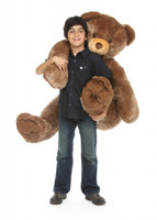 Sweetie Tubs mocha brown teddy bear 52in