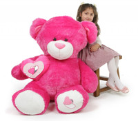 ChaCha Big Love hot pink teddy bear 47in