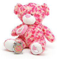 Rosette Big Love cosmic pink cream teddy bear 30in