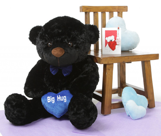 I Love You This Much Bear Hug Care Package Juju Cuddles black teddy bear 38in
