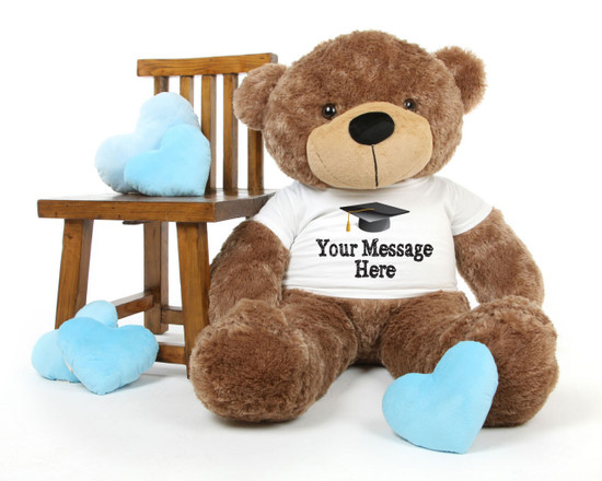 Cuddles Personalized Graduation Teddy Bear 48in