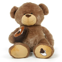 Baby Cakes Big Love Large Cuddly Mocha Brown Teddy Bear 47in