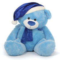 Blue Christmas Teddy Bear