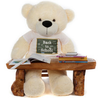 4ft Huge Cream Teddy Bear Cozy Cuddles Back to School