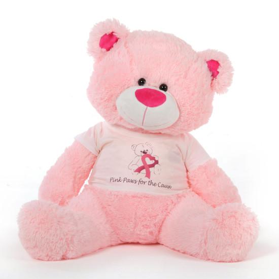 45in Pink Giant Teddy Bear Lulu Shags Breast Cancer Awareness