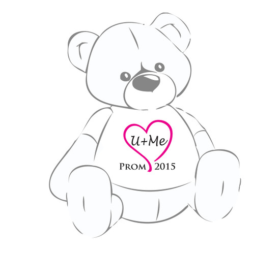 U+Me Pink Heart Prom 2015 Giant Teddy Bear shirt