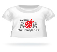 Personalized Awesome Mom Lady bug Giant Teddy Bear shirt