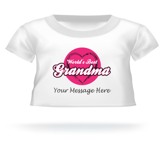 World's Best Grandma Personalized Giant Teddy Bear shirt