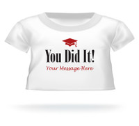 Personalized Giant Teddy bear shirt You Did It!