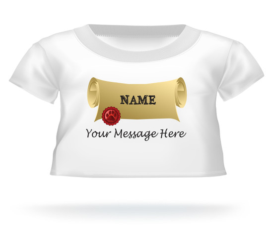 Personalized Diploma Graduation Giant Teddy shirt