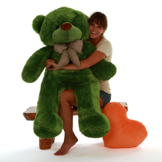 Life Size Green Teddy Bear Lucky Cuddles 48in