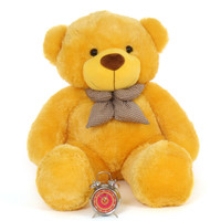 Life Size  smiling Yellow Teddy Bear  biggest snuggly  Daisy Cuddles Giant Teddy 48in