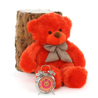 24in soft Teddy Bear Huggable Lovey Cuddles Beautiful Orange Red Fur